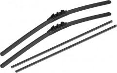 Щётки стеклоочистителя бескаркасные Alca All Seasons 600 и 410 мм. PushButton 19мм. (набор)