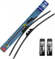 Щётки стеклоочистителя бескаркасные Alca Super Flat 650 и 650 мм. Side Pin (набор)