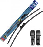 Щётки стеклоочистителя бескаркасные Alca Super Flat 600 и 530 мм. PushButton 16мм. (набор)