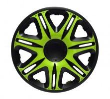 Колпаки на колеса Jacky R14 NASCAR GREEN-BLACK (J-tec)