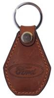 """Брелок для ключей коричневый с логотипом """"Ford"""""""