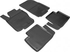 Коврики в салон для Mercedes ML/GLE W166 '11-18 полиуретановые, черные (Nor-Plast)