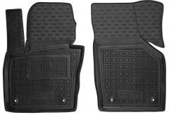 Коврики в салон передние для Audi Q3 '11- резиновые, черные (AVTO-Gumm)