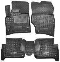 Коврики в салон для Audi Q7 '05-14 резиновые, черные (AVTO-Gumm)
