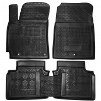 Коврики в салон для Hyundai Elantra AD '16- резиновые, черные (AVTO-Gumm)