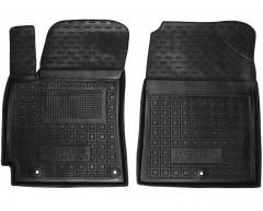 Коврики в салон передние для Hyundai Elantra AD '16- резиновые, черные (AVTO-Gumm)