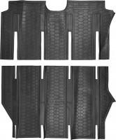 Коврики в салон для Mercedes Viano '07-13 резиновые, черные, салон из двух частей (AVTO-Gumm)