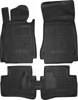 Коврики в салон для Mercedes S-Class W222 '13- резиновые, черные (AVTO-Gumm)