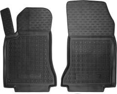 Коврики в салон передние для Mercedes GLA X156 '13- резиновые, черные (AVTO-Gumm)