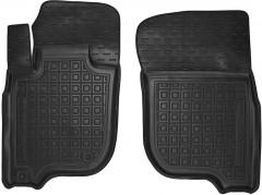 Коврики в салон передние для Mitsubishi Pajero Sport '16- резиновые, черные (AVTO-Gumm)