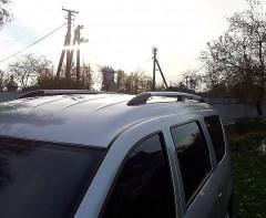Рейлинги для Renault Logan MCV '06-12, серые (пласт. концевик)