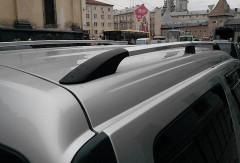 Рейлинги для Renault Logan MCV '06-12, хром (пласт. концевик)
