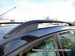 Рейлинги для Volkswagen Caddy Maxi '10-15, черные (crown-дизайн)