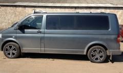 Рейлинги для Volkswagen Transporter T5 '03-15, длин. база, хром (crown-дизайн)