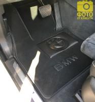 Фото 8 - Коврики в салон для BMW X5 F15 '14- текстильные, черные (Премиум)
