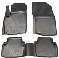 Коврики в салон для Mitsubishi Outlander XL '07-12 полиуретановые, черные (L.Locker)