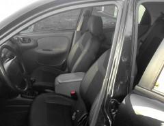 Авточехлы Dynamic для салона Daewoo Lanos серая строчка (MW Brothers) с отдельными задними подголовниками