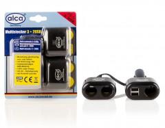 Разветвитель-розетка 12V 2+3 USB Alca 511 410