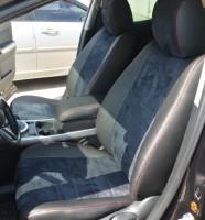 Авточехлы из экокожи S-LINE для салона Mazda CX-7 '06-12, алькантара, красная строчка (AVTO-MANIA)