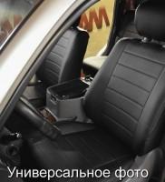 Авточехлы из экокожи L-LINE для салона Hyundai Accent (Solaris) '11-17, седан, с цельной спинкой (AVTO-MANIA)