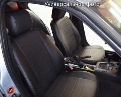 Авточехлы из экокожи S-LINE для салона Hyundai Accent (Solaris) '11-17, седан, с цельной спинкой (AVTO-MANIA)