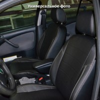 Авточехлы из экокожи X-LINE для салона Hyundai Accent (Solaris) '11-17, седан, с цельной спинкой (AVTO-MANIA)