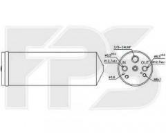 Осушитель для Mitsubishi (NISSENS) FP 48 Q119-X
