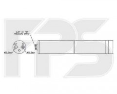 Осушитель для Audi / Skoda / Seat / VW (NRF) FP 50 Q475-X