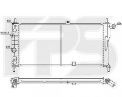 Радиатор охлаждения двигателя для Chevrolet / Opel / Daewoo (FPS) FP 52 A254