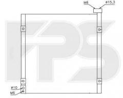 Радиатор кондиционера для Honda (NISSENS) FP 30 K258