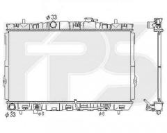 Радиатор охлаждения двигателя для Hyundai / Kia (NISSENS) FP 32 A677