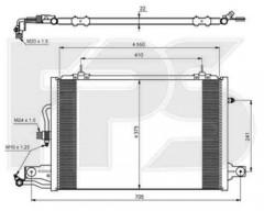 Радиатор кондиционера для Audi / Skoda / Seat / VW (NISSENS) FP 12 K178