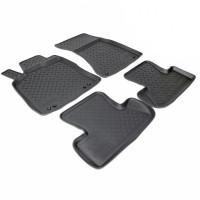 Коврики в салон для Audi Q5 '08-17 полиуретановые, черные (Nor-Plast)