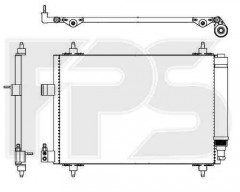 Радиатор кондиционера для Citroen / Peugeot (NRF) FP 54 K461-X