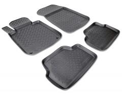 Коврики в салон для BMW 1 E87 '04-12 полиуретановые, черные (Nor-Plast)
