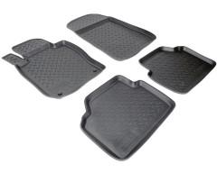 Коврики в салон для BMW 3 E90 '05-10 полиуретановые, черные (Nor-Plast)