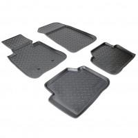 Коврики в салон для BMW 3 E90 '10-11 полиуретановые, черные (Nor-Plast)