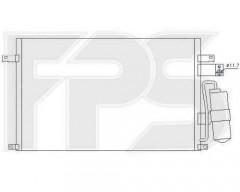 Радиатор кондиционера для Chevrolet / Opel / Daewoo (NISSENS) FP 17 K63