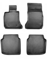 Коврики в салон для BMW 7 F02 '08-15 Long, полиуретановые, черные (Nor-Plast)
