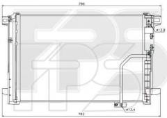 Радиатор кондиционера для Mercedes (NRF) FP 46 K824-X