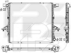 Радиатор охлаждения двигателя для Audi / Skoda / Seat / VW (KOYORAD) FP 74 A93-X