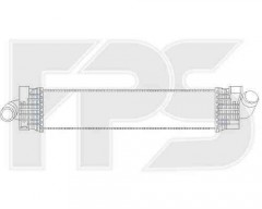 Интеркулер для Ford (NRF) FP 44 T30