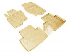 Коврики в салон для Infiniti FX (QX70) '09-12 полиуретановые, бежевые (Nor-Plast)