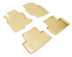 Коврики в салон для Infiniti EX (QX50) '08-17 полиуретановые, бежевые (Nor-Plast)