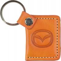 """Брелок для ключей оранжевый с логотипом """"Mazda"""""""