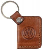 """Брелок для ключей коричневый с логотипом """"Volkswagen"""""""