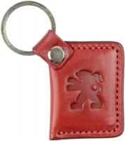 """Брелок для ключей красный с логотипом """"Peugeot"""""""