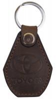 """Брелок для ключей коричневый с логотипом """"Toyota"""""""