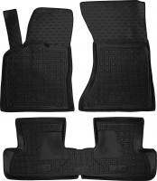 Коврики в салон для Audi Q5 '08-17 резиновые, черные (AVTO-Gumm)