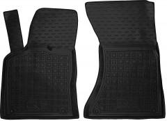Коврики в салон передние для Audi Q5 '08-17 резиновые, черные (AVTO-Gumm)